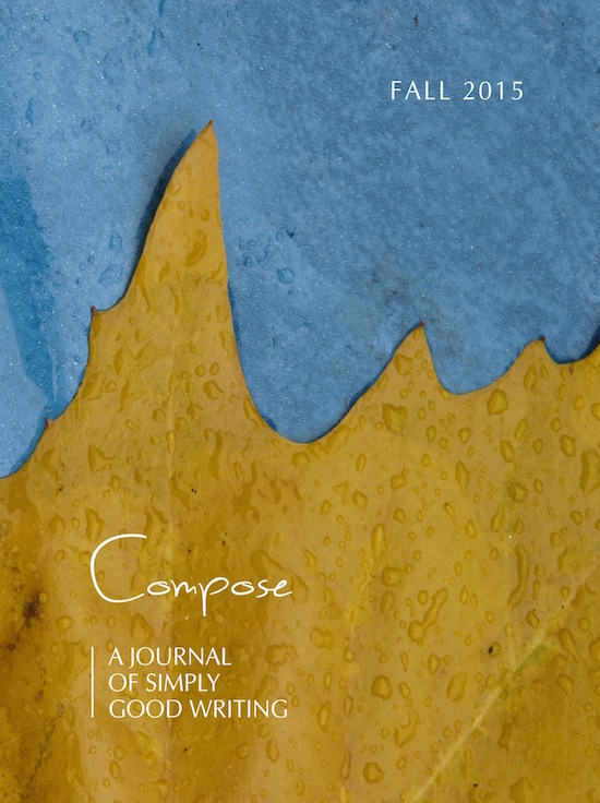 Fall 2015 Cover, Compose Journal